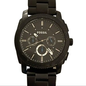 Fossil Men Stainless Steel Black Dial Watch